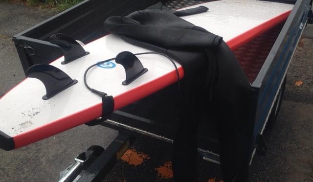 ソフトボードでサーフィン 〜近くの海でパドリングの練習〜