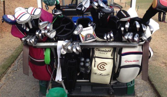 ゴルフで便利なセルフスタンドケース。カートへ「ひっかける場所」には気をつけましょう